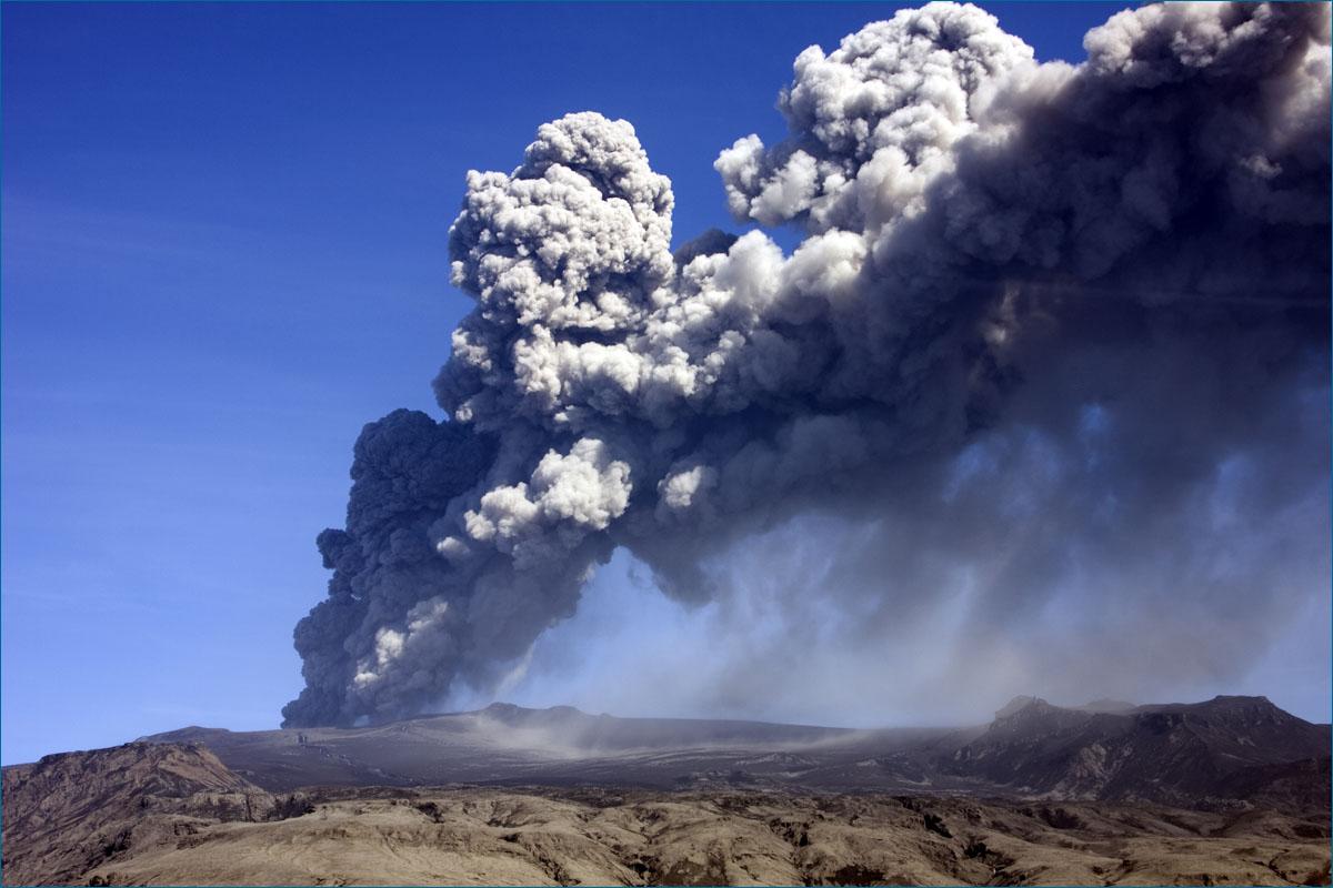 Eyjafjallajökull uitbarsting op IJsland.